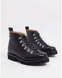 Grenson Черные Кожаные Походные Ботинки -черный