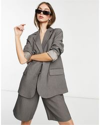 Y.A.S Tailored Blazer Co-ord - Grey