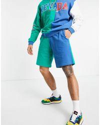ASOS Pantaloncini oversize color block - Verde