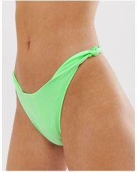 ASOS - Mirror Satin Knot Bikini Bottom - Lyst