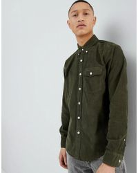 Abercrombie & Fitch - Buttondown Fine Cord Shirt Regular Fit In Olive - Lyst