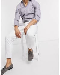 ASOS Cigarette Fit Chinos - White