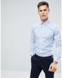 French Connection - Plain Poplin Slim Fit Shirt - Lyst