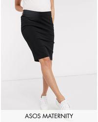 ASOS Asos Design Maternity Under Bump Pencil Skirt - Black