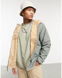 Pull&Bear Зеленая Двусторонняя Плюшевая Куртка -зеленый Цвет