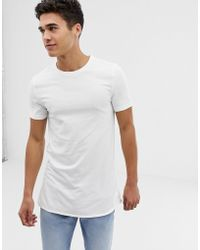 7c80bf861364 ASOS T-shirt With Bound Scoop Neck And Contrast Raglan Sleeves in Purple  for Men - Lyst