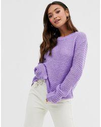 Glamorous Flare Sleeve Jumper - Purple