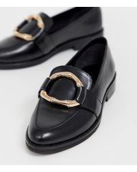 ASOS Maroon Bamboo Ring Leather Loafers