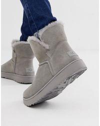 UGG Серые Классические Укороченные Ботинки С Манжетами -серый