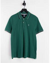Champion Зеленая Футболка Поло С Маленьким Логотипом -зеленый Цвет