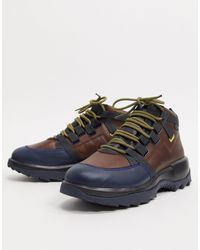 Camper Коричневые Походные Ботинки На Массивной Подошве -коричневый