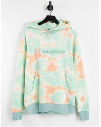 Berghaus – heritage – kapuzenpullover mit batikmuster und logo - Pink