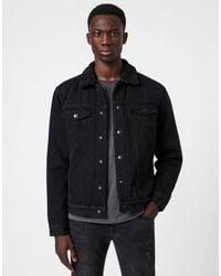 AllSaints Alder - Veste en jean - Noir