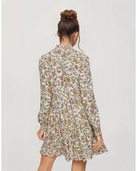 Miss Selfridge Платье С Присборенной Юбкой И Мелким Цветочным Принтом -белый - Естественный