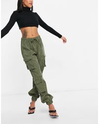Missguided Utility Cargo Trouser - Green