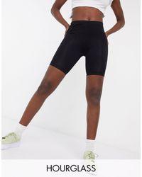 ASOS Hourglass Basic legging Shorts - Black