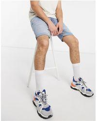 SELECTED Organic Cotton Super Stretch Fit Denim Shorts - Blue