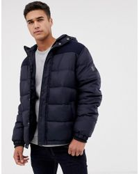 Threadbare - Panelled Puffer Jacket With Hood - Lyst