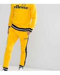Ellesse Sweatpants With Contrast Panel In Yellow