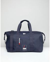 Lacoste Logo Holdall In Navy - Blue