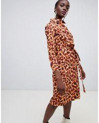 Finery London - Hobart Cheetah Print Shirt Dress - Lyst