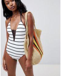 Seafolly - Stripe Halter Swimsuit - Lyst