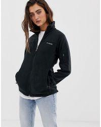 Columbia Fast Trek Ii Fleece Jacket In Black