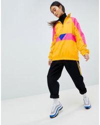 68c1ef428b8b Nike Nike Nike Half Half Half Half Swoosh Pink Lyst Zip Woven Jacket In  rrCR6Bn