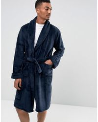 French Connection - Fleece Robe - Lyst