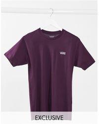 Vans - – T-Shirt mit Logo auf der linken Brust - Lyst