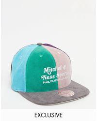 Mitchell & Ness - Разноцветная Вельветовая Кепка C Принтом Эксклюзивно Для Asos-многоцветный - Lyst