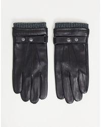 Paul Costelloe Leather Gloves - Black
