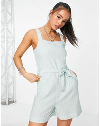 ONLY Playsuit With Tie Waist - Green