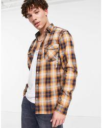 Tommy Hilfiger Клетчатая Рубашка В Стиле Вестерн Tjm-коричневый Цвет