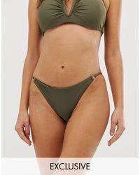 Glamorous Exclusive High Leg Bikini Bottom - Natural