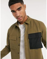 Religion Military Double Pocket Shirt - Natural