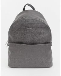 Matt & Nat - Structured Backpack In Carbon - Lyst