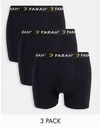 Farah Набор Из 3 Боксеров Черного Цвета Saginaw-черный Цвет