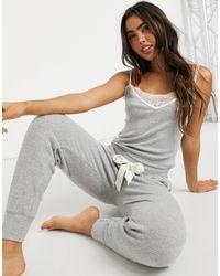 Abercrombie & Fitch Серый Удобный Топ От Пижамного Комплекта