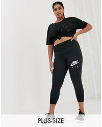 Nike Черные Леггинсы Nike Air Running Plus-черный