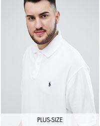 Polo Ralph Lauren - Big & Tall - Polo bianca - Lyst