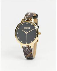 Missguided Leren Horloge - Zwart
