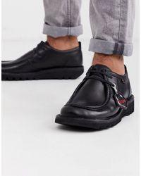 Kickers Черные Кожаные Туфли -черный