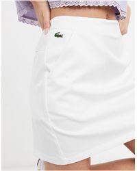 Lacoste Minifalda blanca con detalle - Blanco