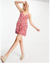 Hollister Wrap Front Dress - Red