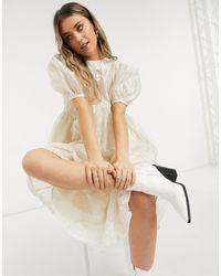 Sister Jane Dream Midi Smock Dress - Natural