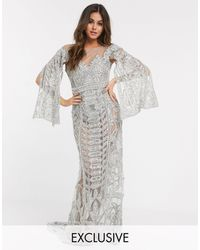 A Star Is Born Exclusive Embellished Maxi Dress - Metallic