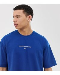4e92a3b6 Oversized T-shirt In Blue With Small Logo