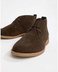 New Look - Faux Suede Desert Shoe In Brown - Lyst