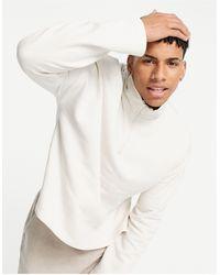 ASOS Oversized Boxy Half Zip Sweatshirt - Grey
